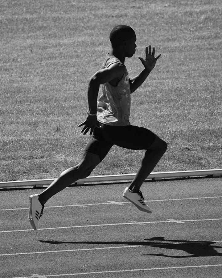 wonder kids photo of an athlete running